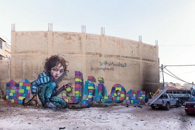 Herakut at Zaatari, Jordan