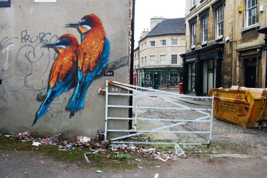 Winged Fire, 8 layer handcut stencil, Stamford, UK (2)
