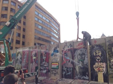 The Beirut Wall Of Shame Turned Into A Piece Of Art In Less Than An Hour
