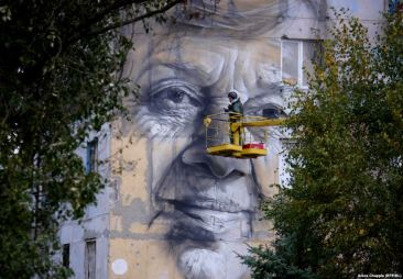 Guido van Helten in Ukraine's ATO zone