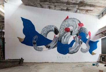 "Barlo ""Consecutio Temporum"" mural in China"