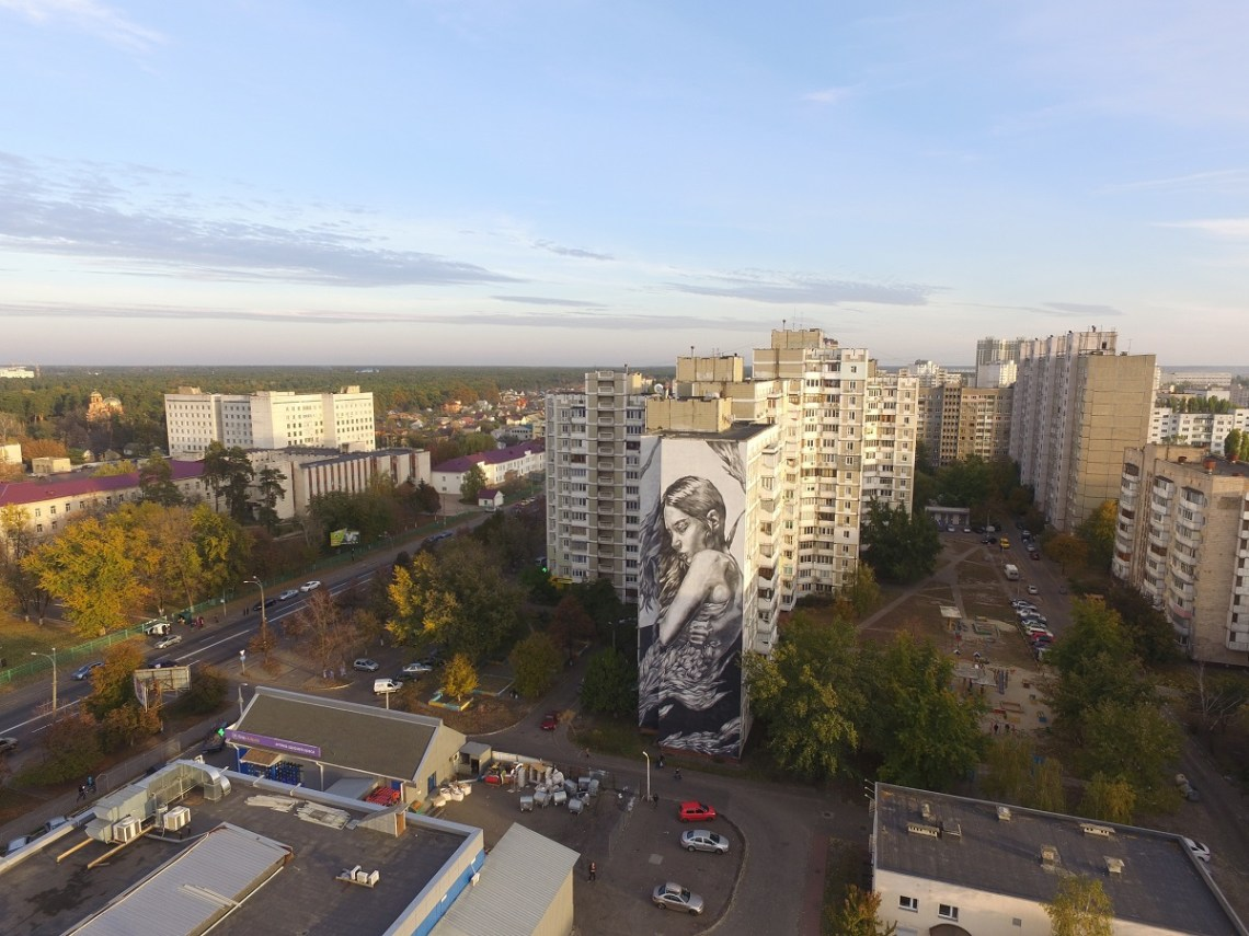 Paola Delfin in Kiev - Photo by @dronarium