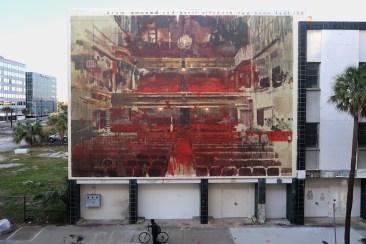 Borondo's mural in Jacksonville, FL