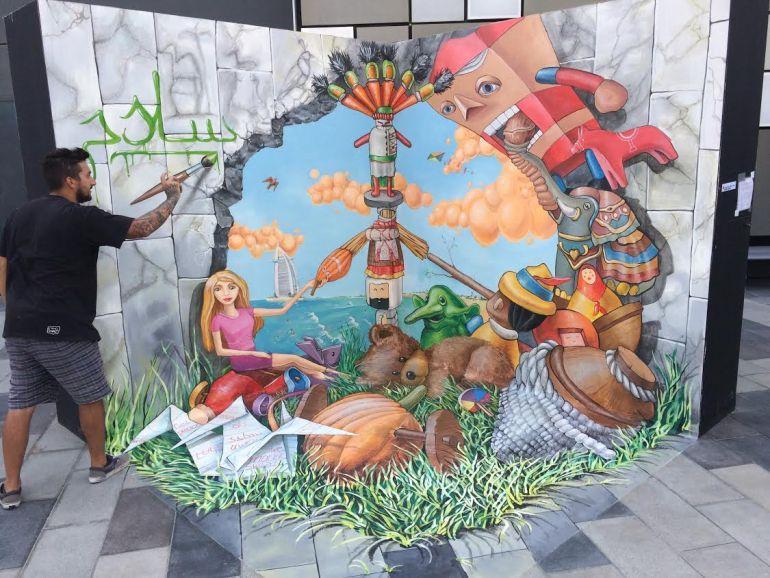 Dima Fatum for Dubai Canvas 3D art festival 2017.