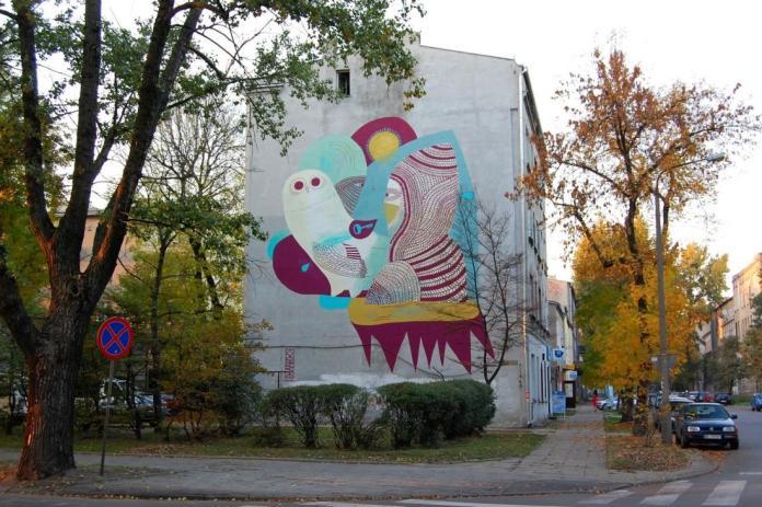 15 Galeria Urban Art Forms in Lodz, Poland. By Otecki