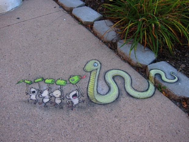 Street Art by David Zinn in Michigan, USA 94379
