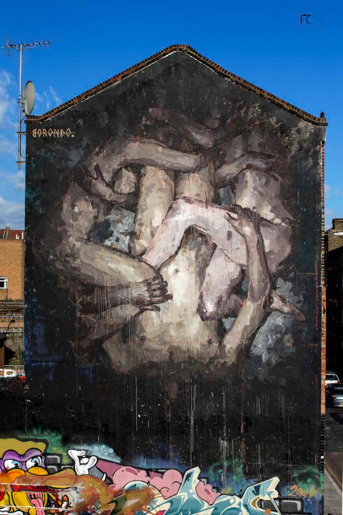 Street Art by Borondo in Shoreditch, East London 12