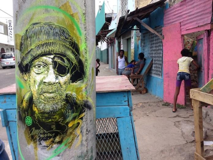 Street Art by C215 in Kingston, Jamaica 6