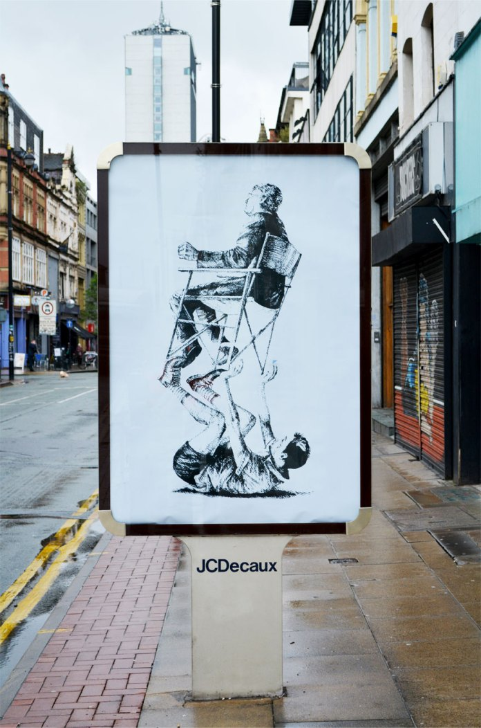 Brandalism - Manchester in. By Fintan Magee