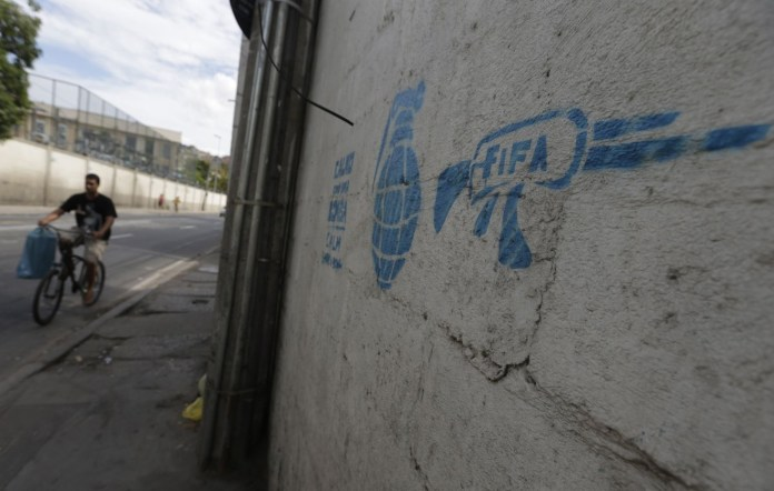 Street Art FIFA World Cup in Rio de Janeiro, Brazil 54564357