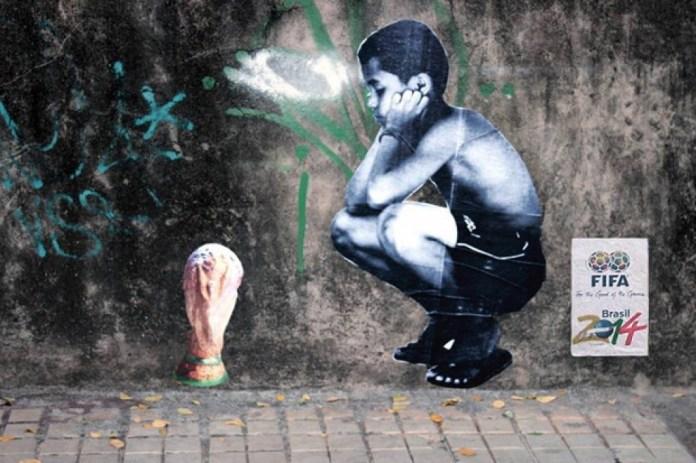 Street Art FIFA World Cup in Rio de Janeiro, Brazil 54564357743
