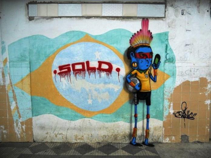 Street Art FIFA World Cup in Rio de Janeiro, Brazil 545643577dhfhf