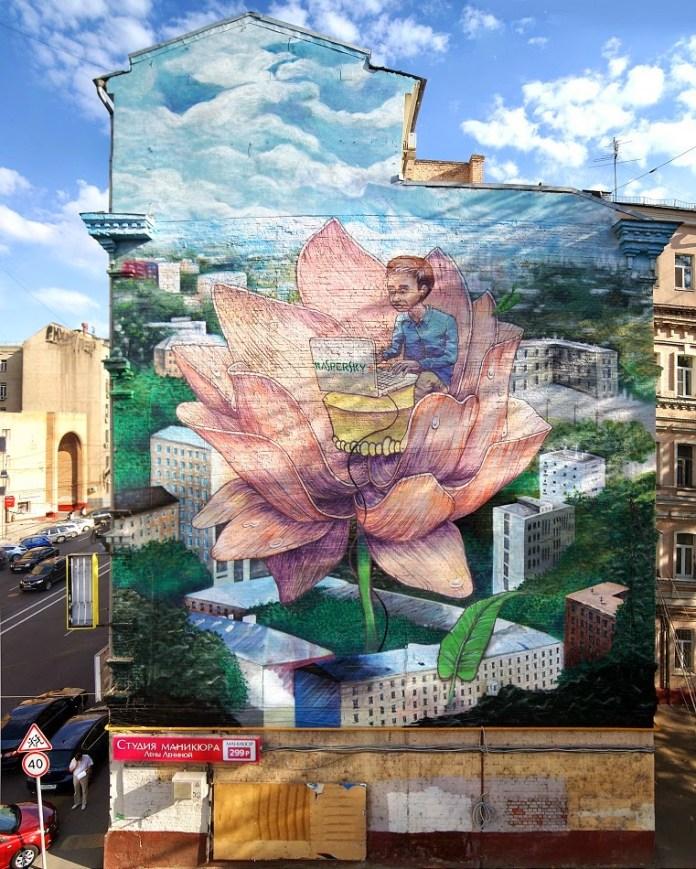 Street Art by Rustam QBic in Moscow, Russia