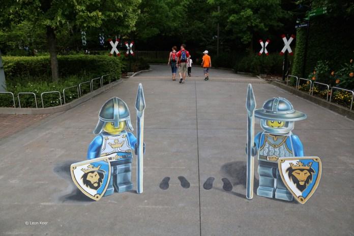3D Street Art by Leon Keer at Legoland 2014 4