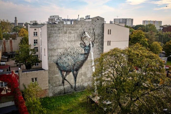 Street Art by DALEAST in Lodz, Poland in for Galeria Urban Forms project 9