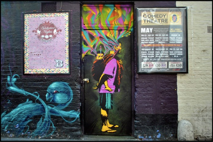 Street Art by Stinkfish in London, England 1