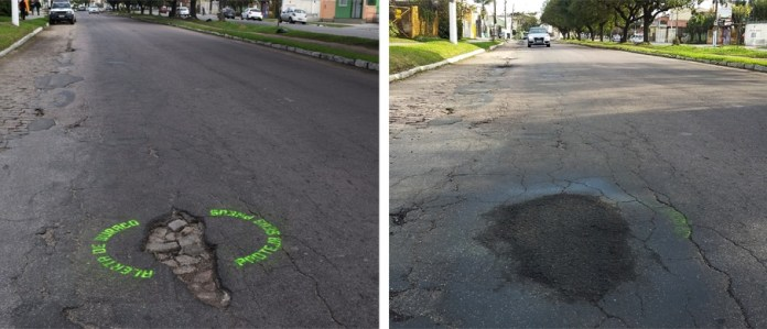 Hole Alert - Protect your tires. In Brazil 5