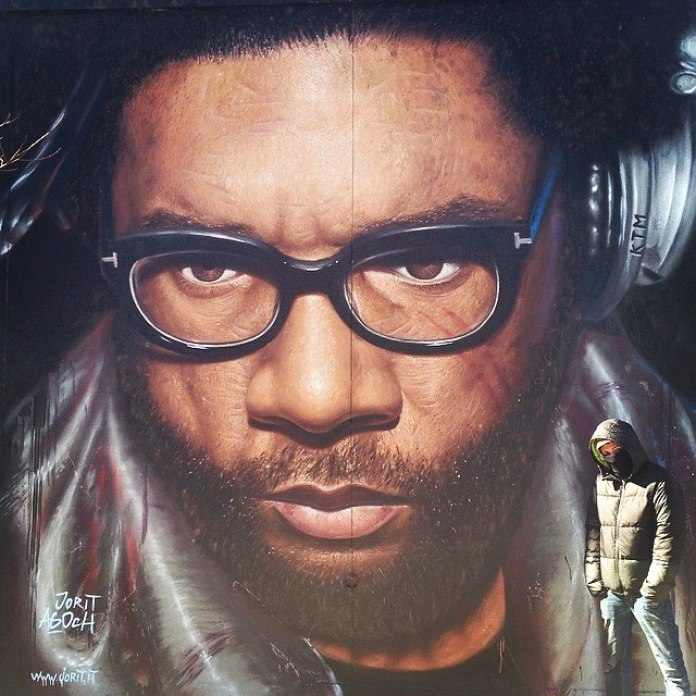 Questlove spray on wall Brooklyn NY