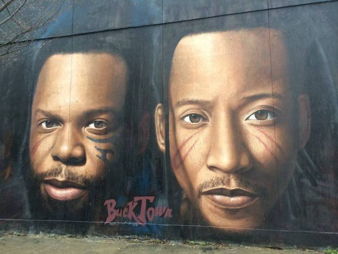 Smif n wessun spray on wall Brooklyn NY 2