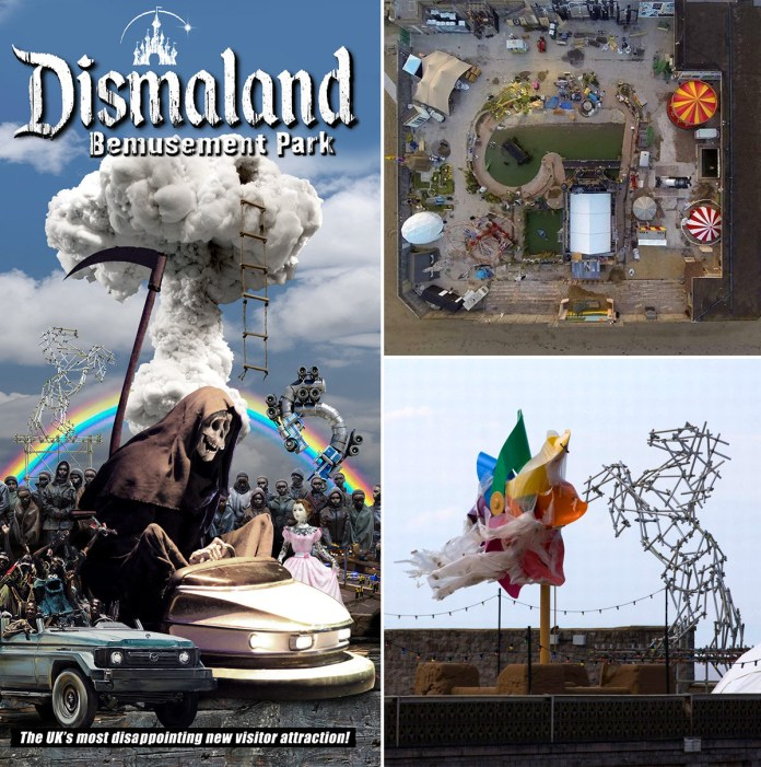 Street Art by Banksy and other artists in London, England - Dismaland 5