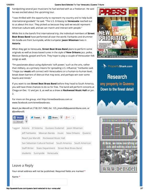 SB Queens Tribune 12-4-14-page-1