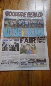 Woodside Herald SBB 6-5-15 cover
