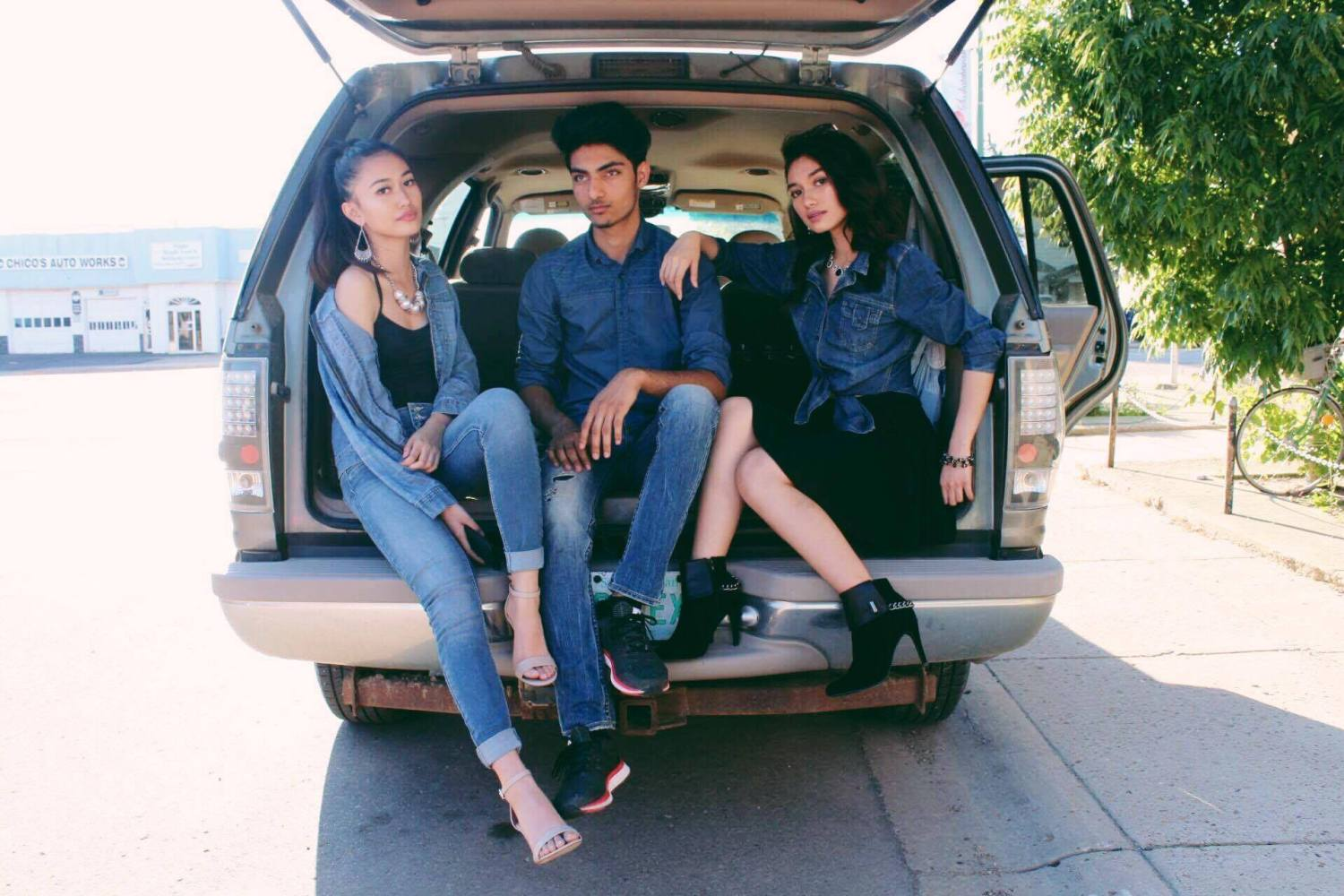 denim on the road trip warriors in Sasktachewan