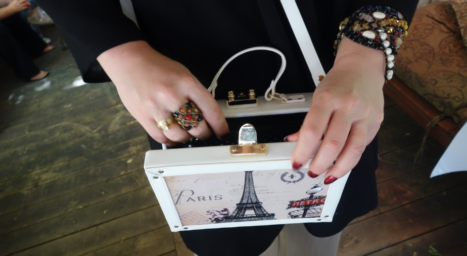 Jeannie Lottie square box Paris purse