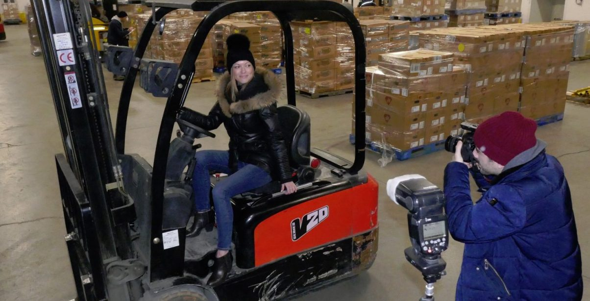 forklift model at Approved Cold Storage