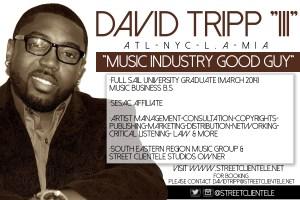 David Tripp III, Artist Manager, SRMG, Street Clientele, Facebook, Twitter, Social Media, Viral, SEO