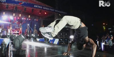 Bboy Junior ROCKS THE RUNWAY at R16 Central Asia afterparty concert in Kazakhstan 2015!