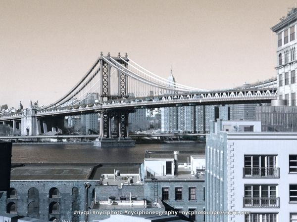 Empire State Building New York City Manhattan Bridge