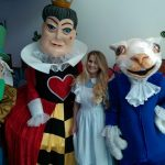 Alice in wonderland themed entertainers, garden party, street entertainers ireland, street theatre ireland