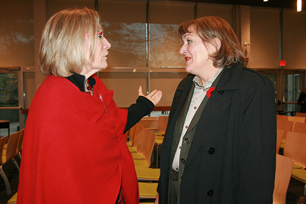 Carolyn Bennett with Giselle Russell.