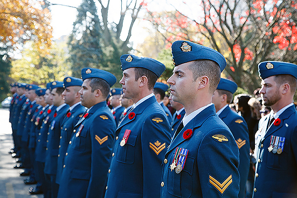 RCAF members from 16 Wing Borden