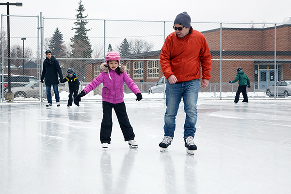 Skaters at Hodgson rink
