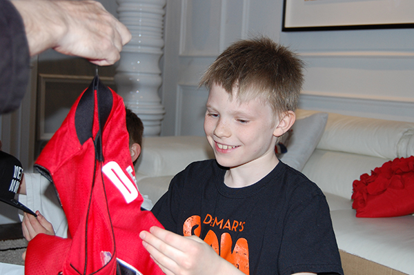 Miles Boehm-North gets a DeRozan jersey