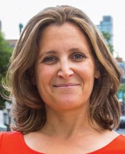 HONOURED: University–Rosedale MP Chrystia Freeland
