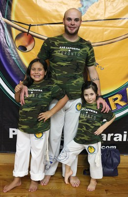 Alan Fonseca and daughters Victoria, left, and Isabella