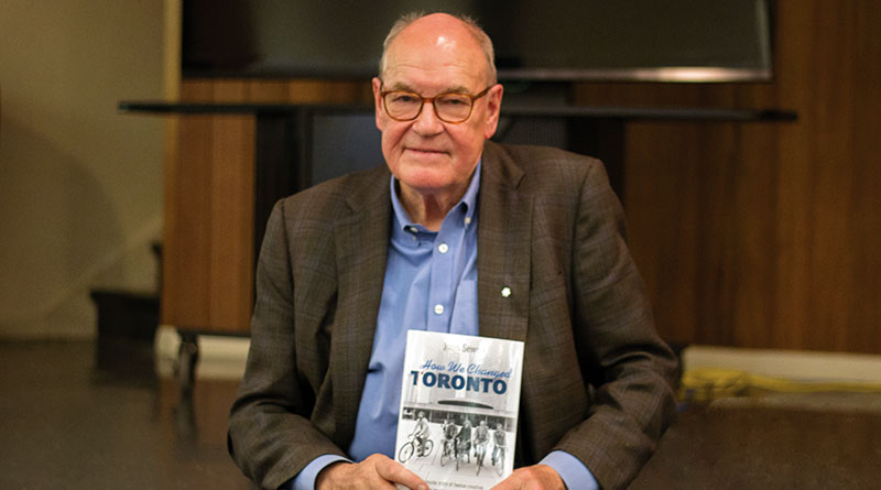 John Sewell promoting his book