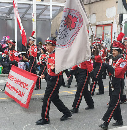 North Toronto Collegiate in Santa Claus Parade