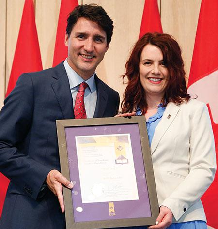 Justin Trudeau at all-girls school