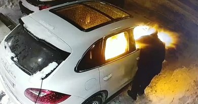 arsonist setting car on fire