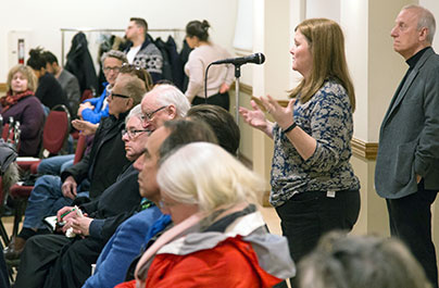 Residents speak out at town hall