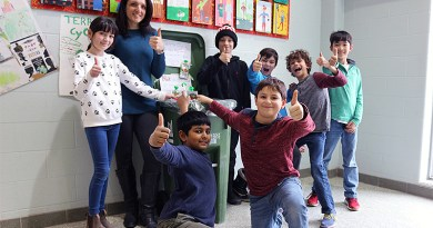 Products collected at school for Terracycle