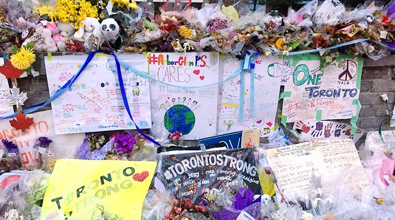 Tributes after van attack