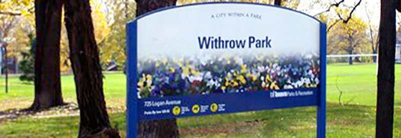 Withrow Park sign