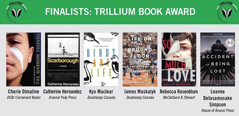 Trillium Book Award finalistsw