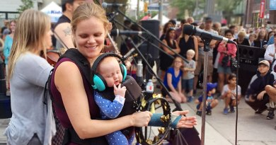 Beaches Jazz Festival singer and baby