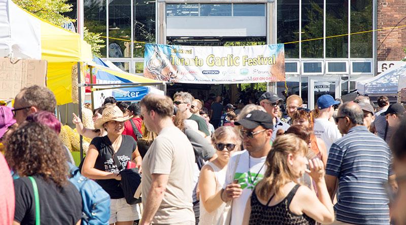 Crowds at Toronto Garlic Festival